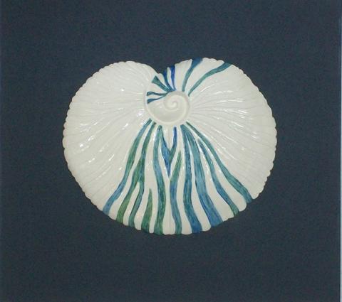 """Porzellan-Relief-Bild """"Runde Muschel"""""""