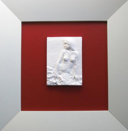 """Porzellan-Relief-Bild """"Aufrechte"""""""