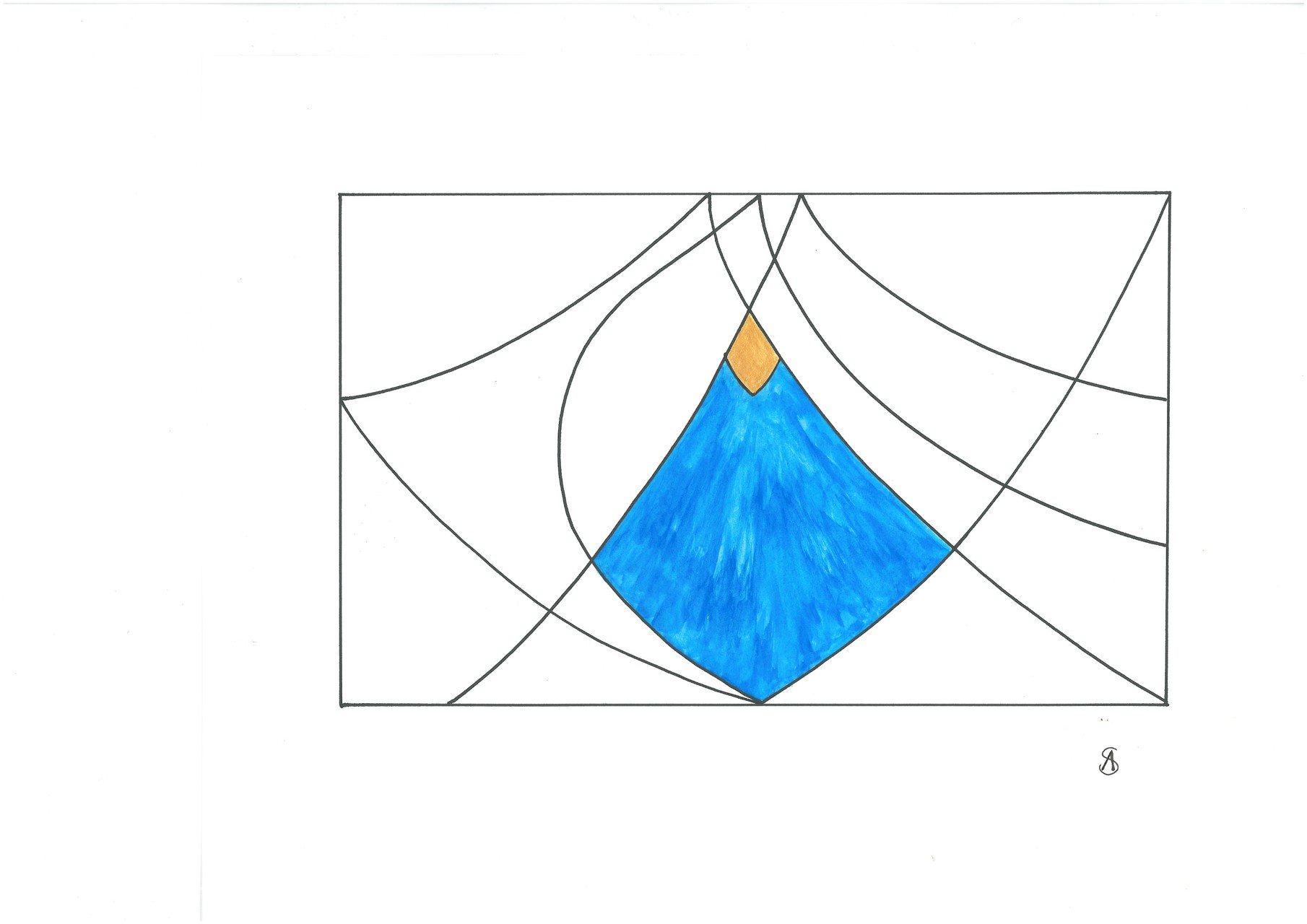 Grafik in Aquarell und Acryl