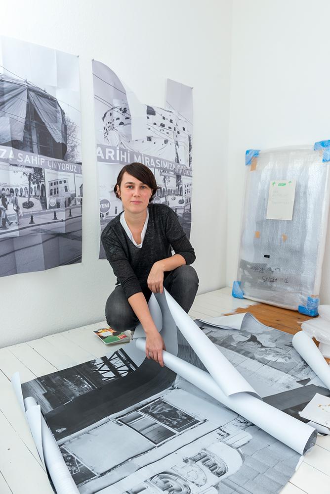 Porträt Diane Artus, Nominée Neuköllner Kunstpreis 2017, Foto: Ines Borchart