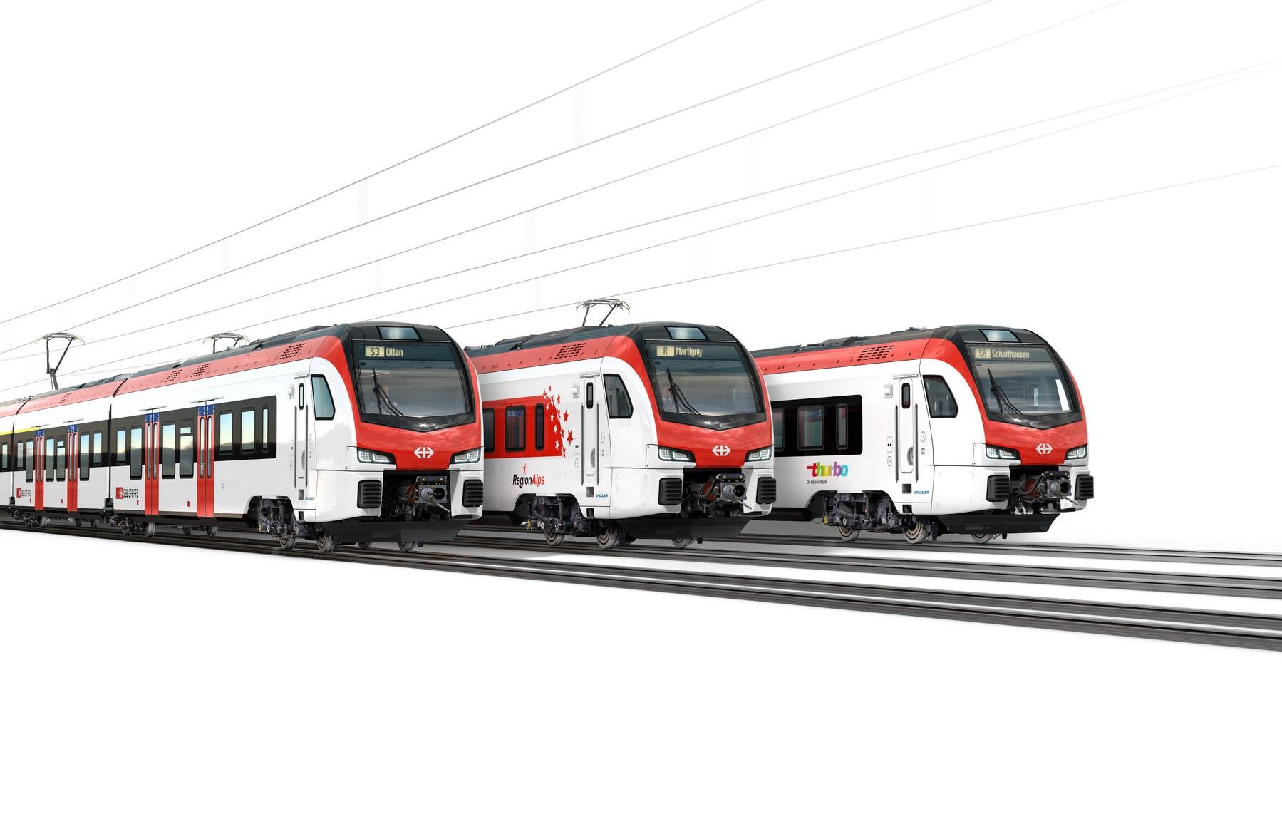 Stadler erhält von SBB Auftrag für 286 neue Triebzüge für den Regionalverkehr