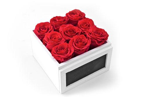 geschenkbox rosen in der box rose in the box konservierte rosen online bestellen. Black Bedroom Furniture Sets. Home Design Ideas