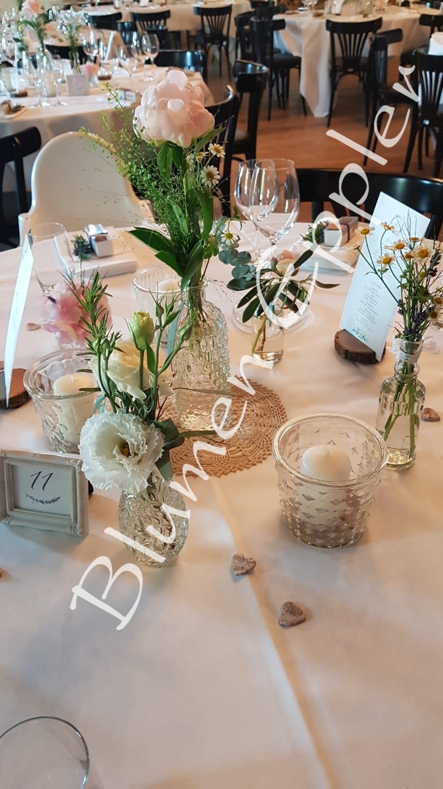 Hofgut Maisenburg - Hochzeits Tischdekoration