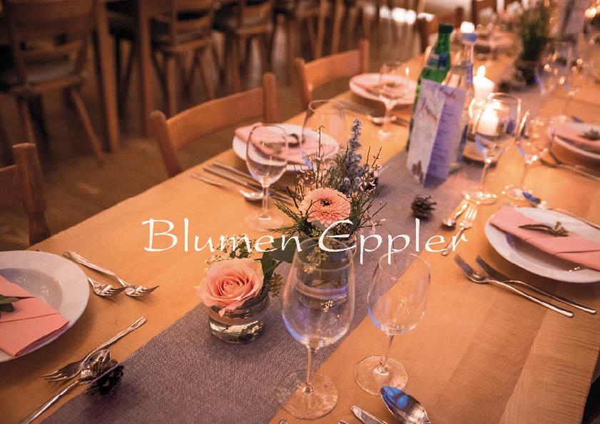 Hofgut Hopfenburg - Hochzeits Tischdekoration im Winter