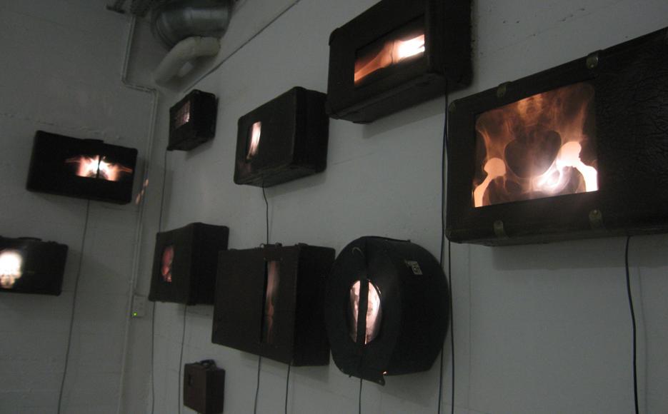 """Kunstverein Rhein-Sieg, Siegburg, Pumpwerk, Ausstellung """"Machenschaften"""", 2012"""