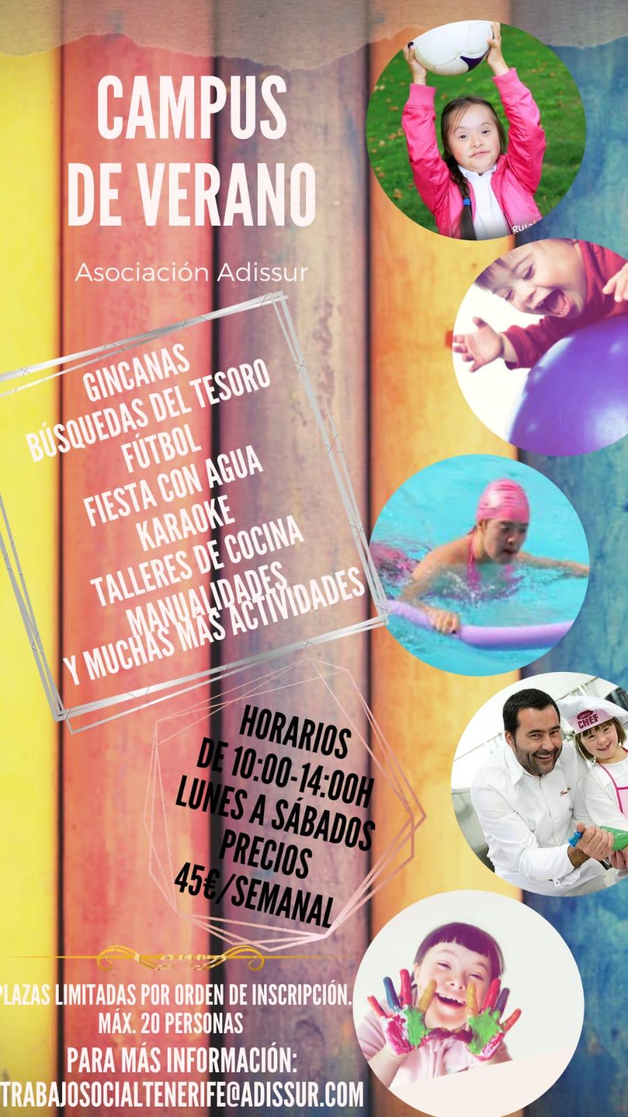 Campus de verano 2020 - Adissur Tenerife