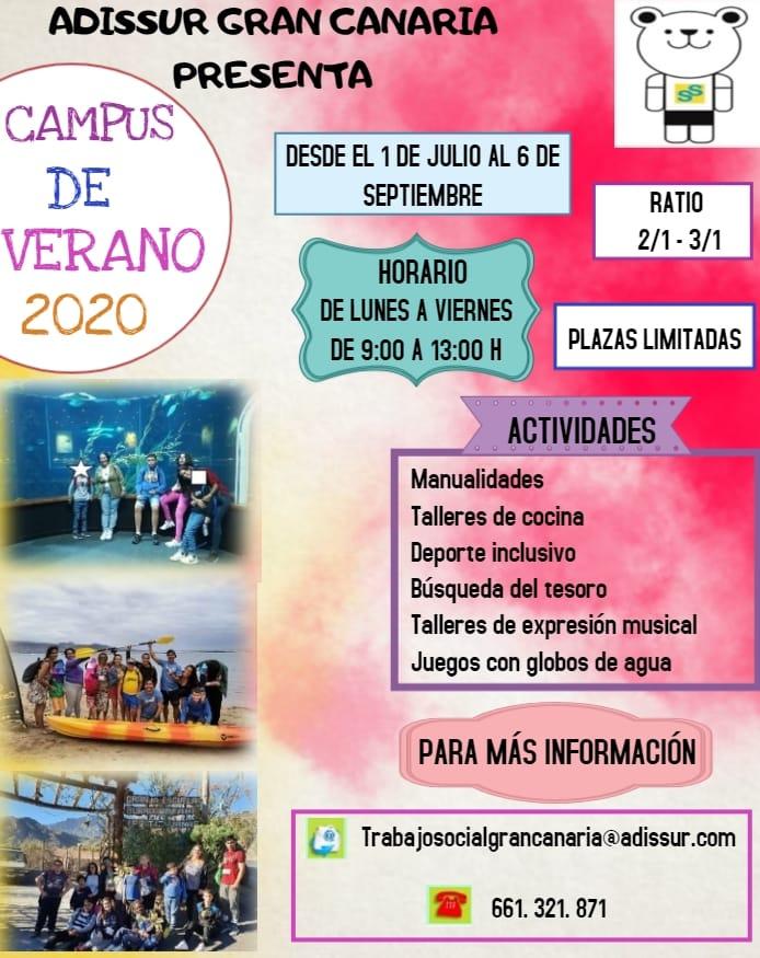 Campus de verano 2020 - Adissur Gran Canaria