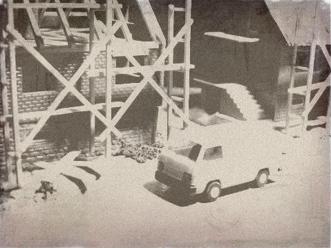 Bilder vom Neubau eines Wohngebiets in Ferrenwalde im Jahre 1995