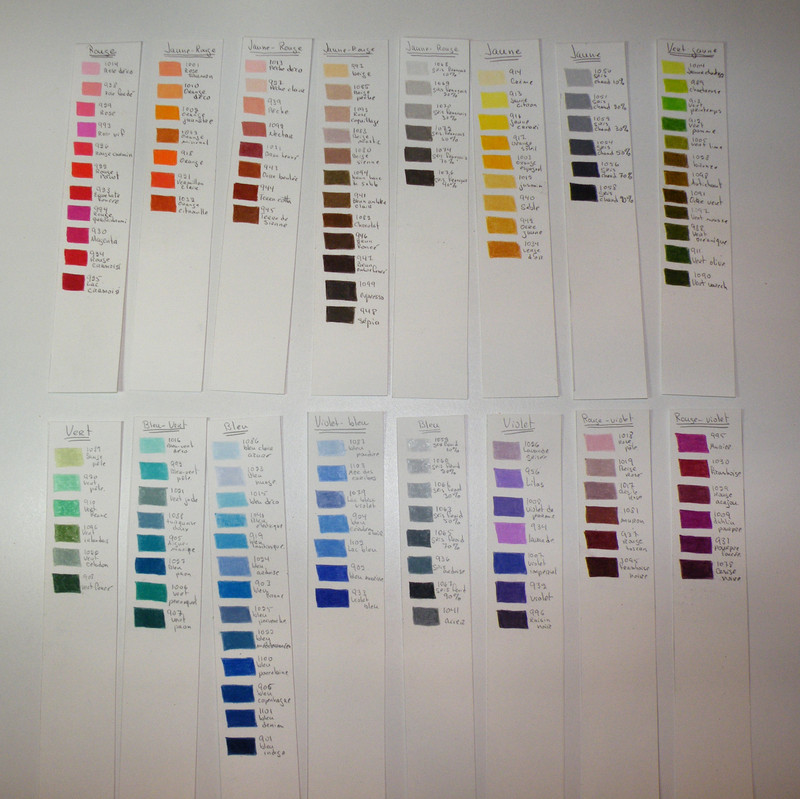 Classification Couleurs Prismacolor Latelier De Manon