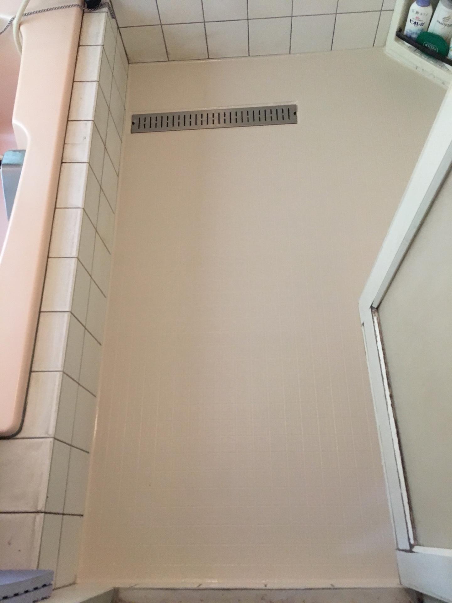 在来浴室 タイル床 シート貼り工法 ※ヒートショック・滑りの軽減