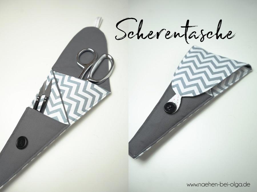 Scherentasche oder Scherenetui. Als Freebie Schnittmuster Scherengarage auch für Anfänger geeignet. www.naehen-bei-olga.de