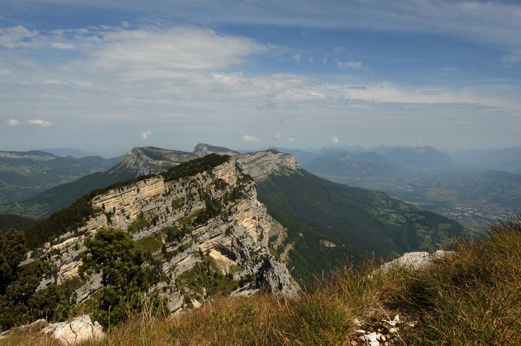 Vue en direction de la Savoie depuis l'Aulpe