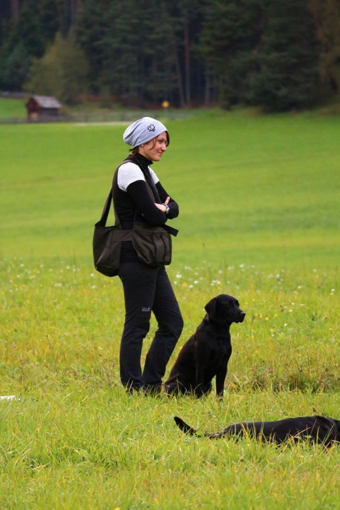 Yvonne mit Dawn beim Training in Tirol (Oktober 2017)
