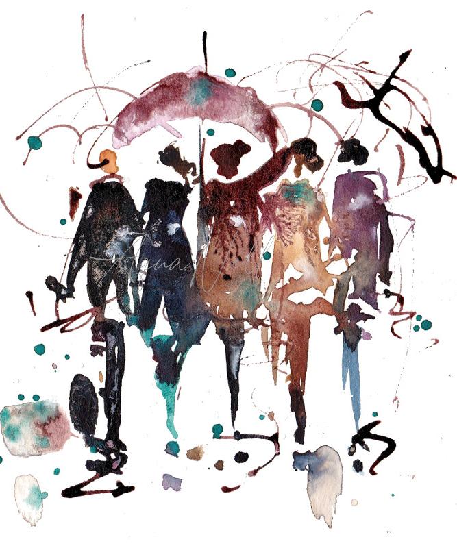 Peinture Aquarelle Personnages Aquanell