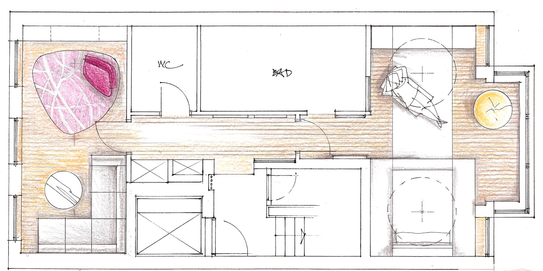 wohnhaus in berlin michaela kammer design. Black Bedroom Furniture Sets. Home Design Ideas