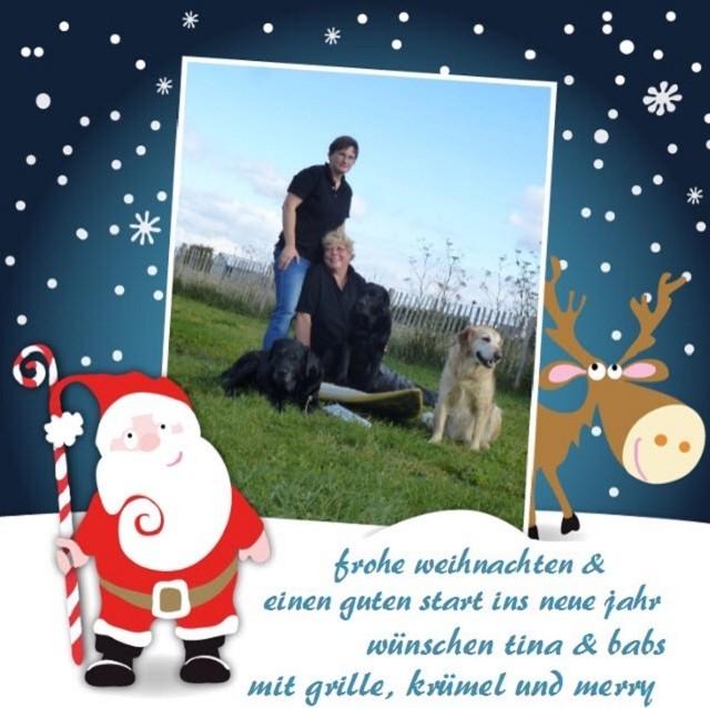 24.12.2015 - Weihnachtliche Grüße auch von Babs und Tina mit ihren Dreien