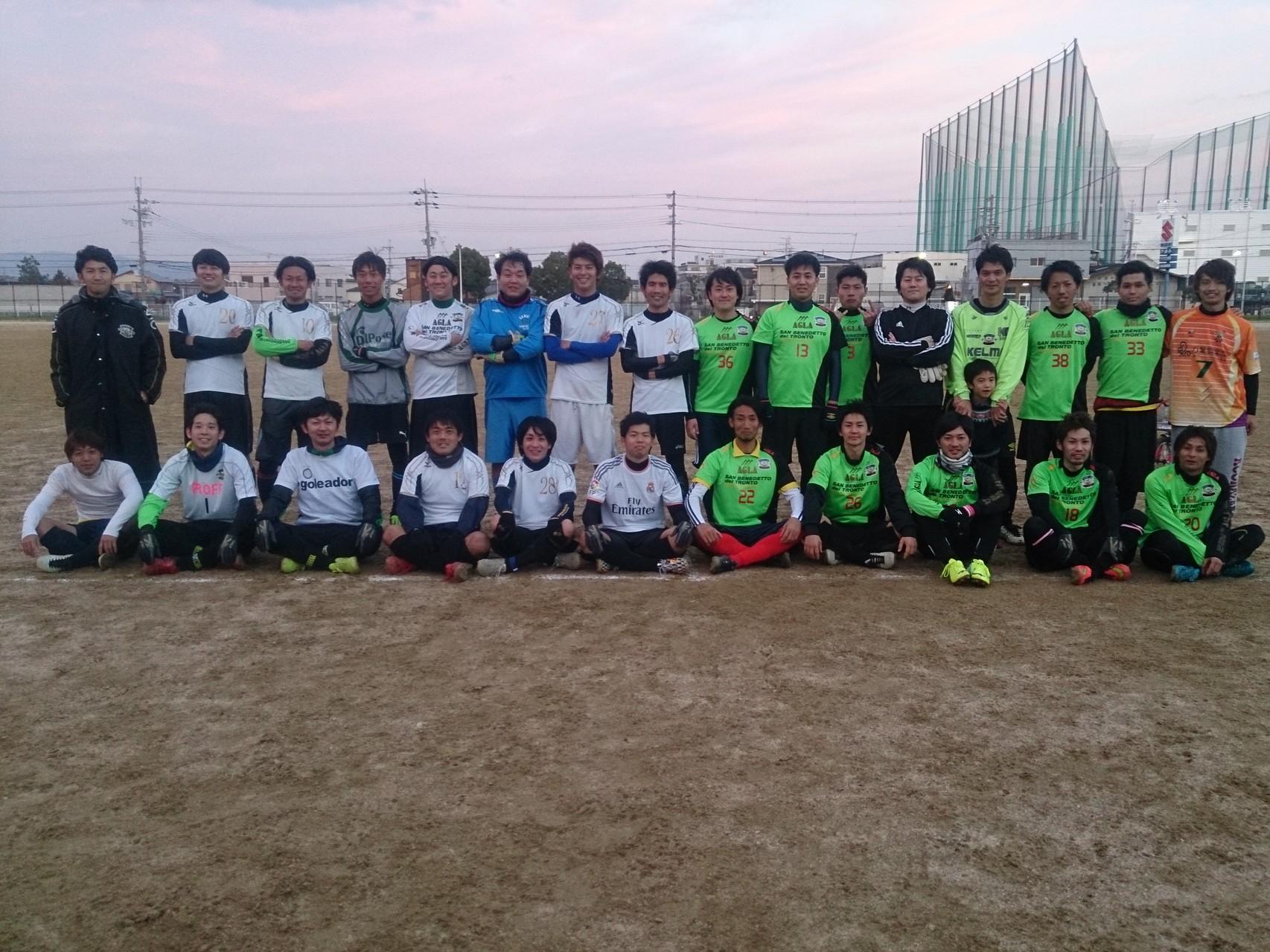 2014/12/23 大泉緑地スポーツ広場A vs ピロティー