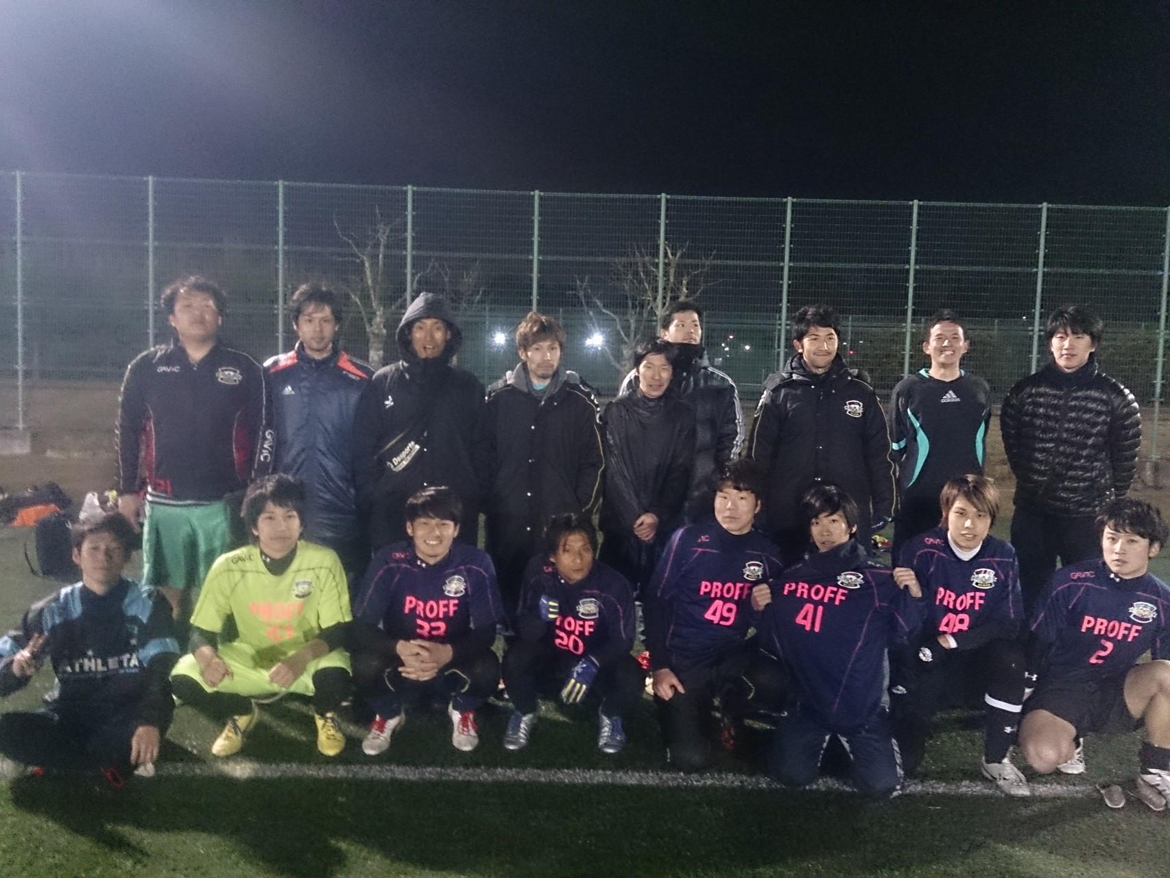 2015/2/1 服部緑地人工芝人工芝サッカー場 vs TEITSU.FC  vs パナソニック高槻