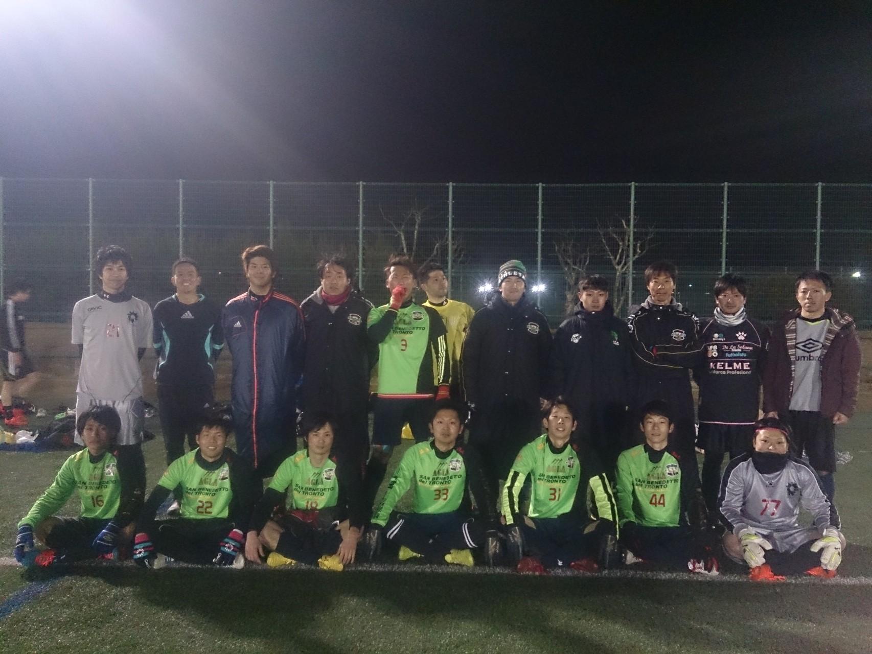 2015/2/8 服部緑地人工芝サッカー場 vs 北摂ユナイテッド