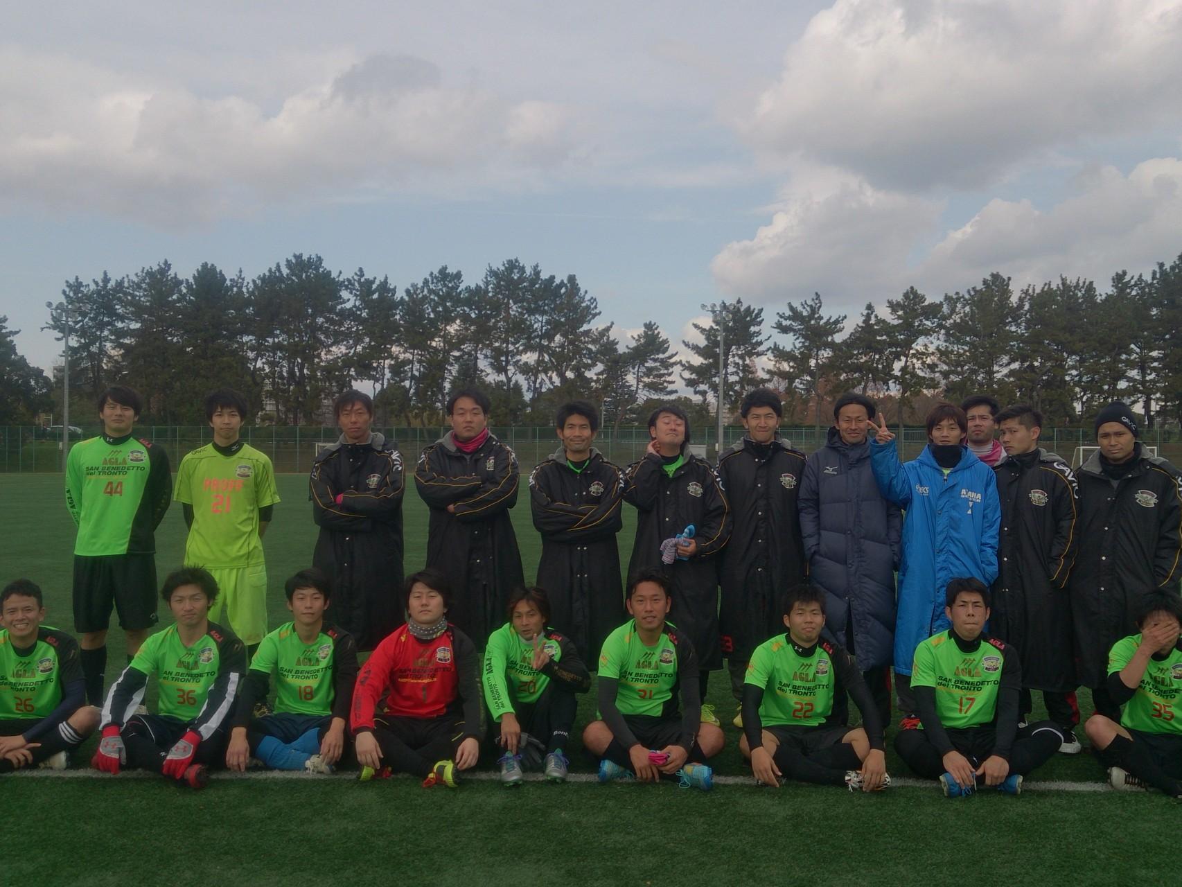 2014/12/21 服部緑地人工芝サッカー場 vs 豊中FC