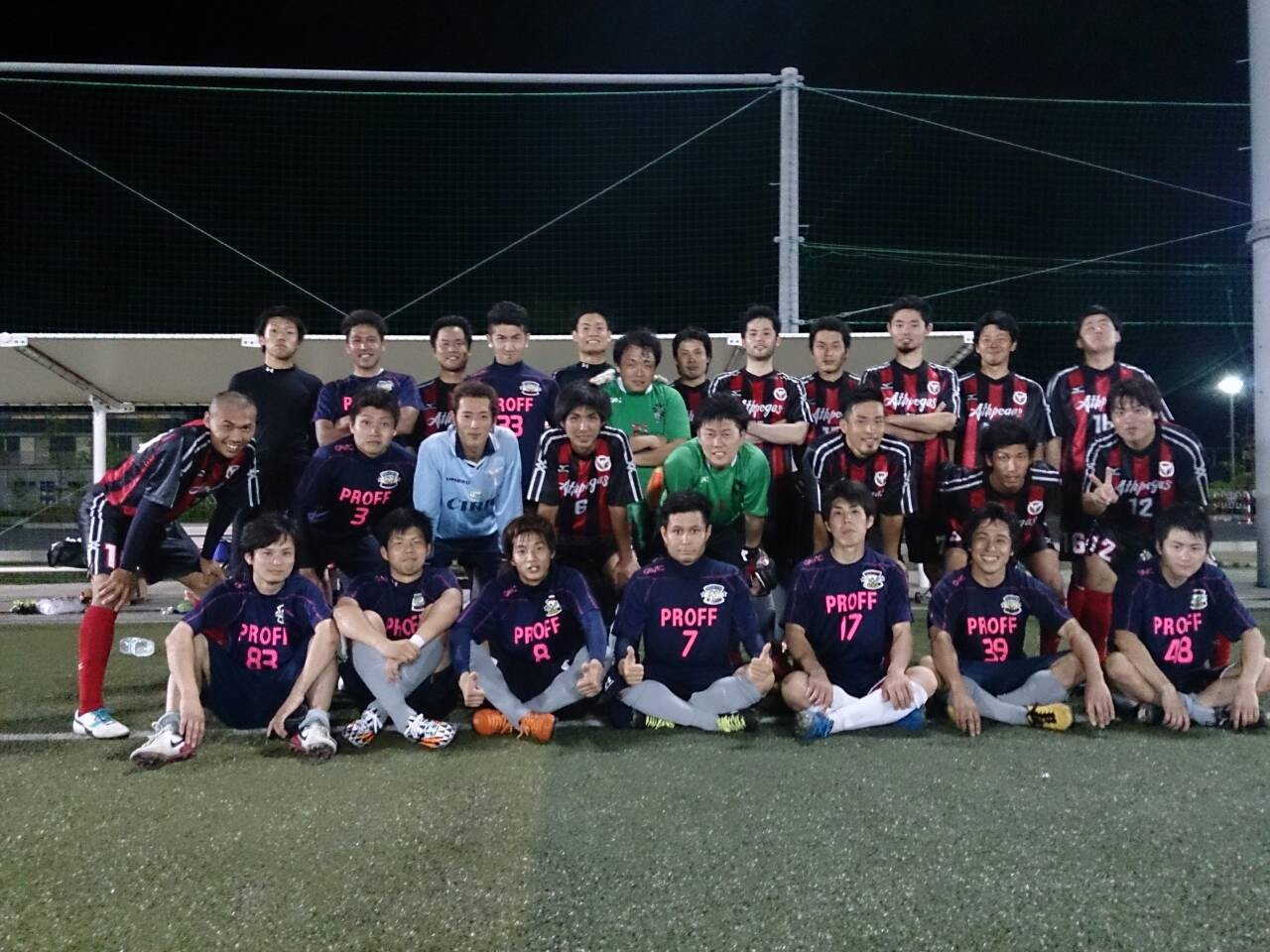 2014/6/8 J-GREEN堺S6 vs TEITSU FC vs アスペガス生駒 アスペガスさんと集合写真