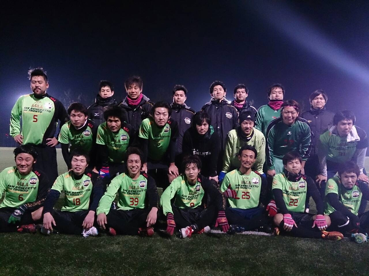 2014/1/12 服部緑地人工芝サッカー場  vs FC西宮  vs fiducia