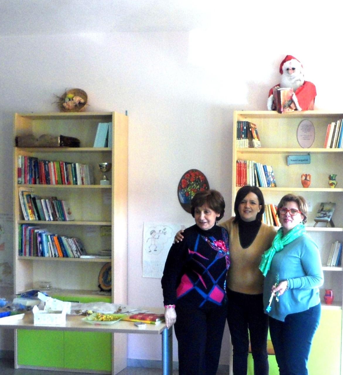 La maestra Laura, la maestra Luisa insieme alla maestra Ornella