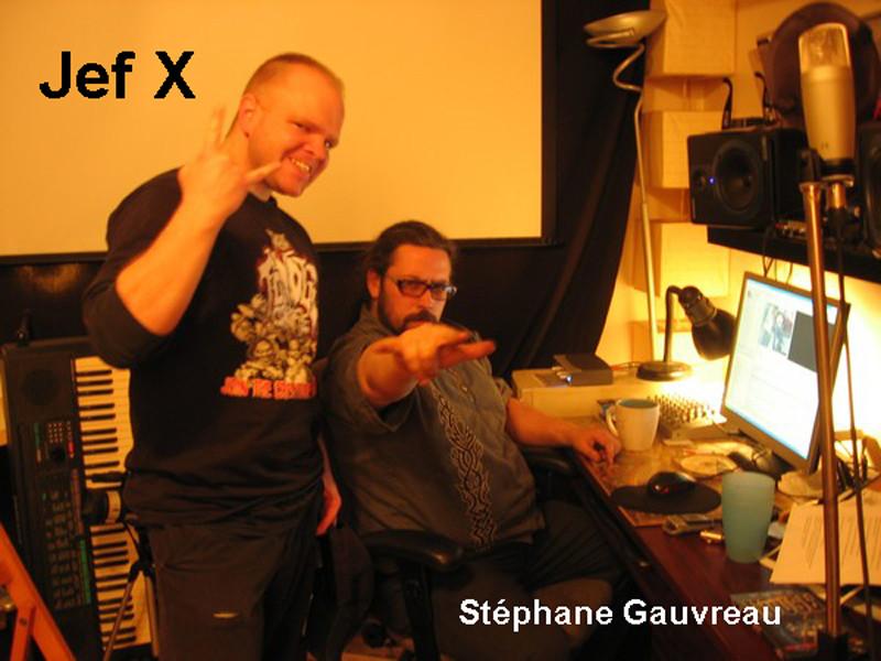 Jef X et Stéphane Gauvreau