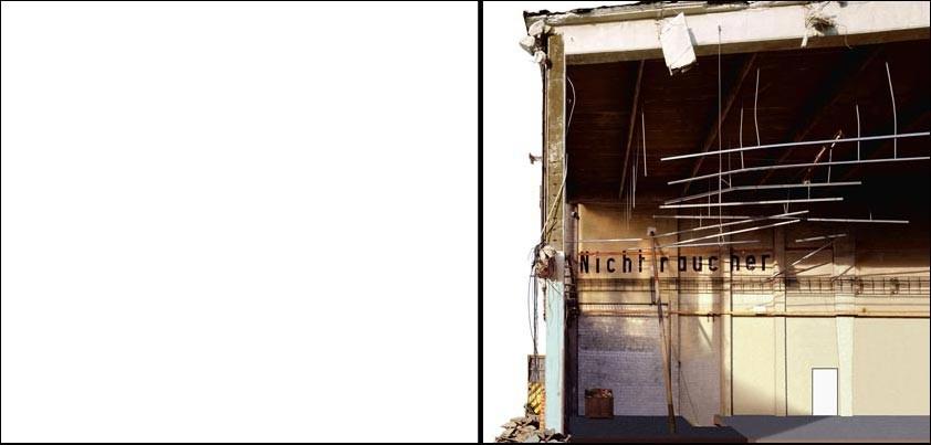"""""""inzwischen abgerissenes gebäude in hh-hafen-city"""" (""""meantime demolished house in hamburg-hafen-city"""") • 2000 • 125x250m / 49x98"""""""