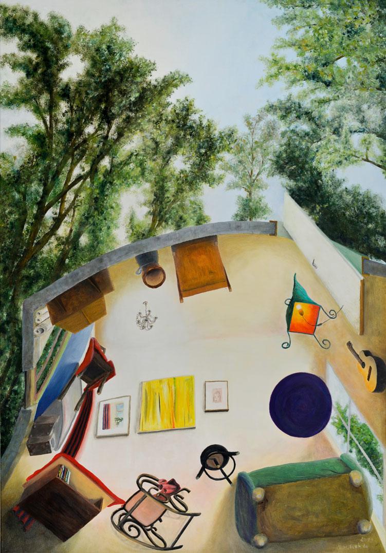 """wildwuchs""  •  2019  •  145 x 100 cm  •  oil on canvas"