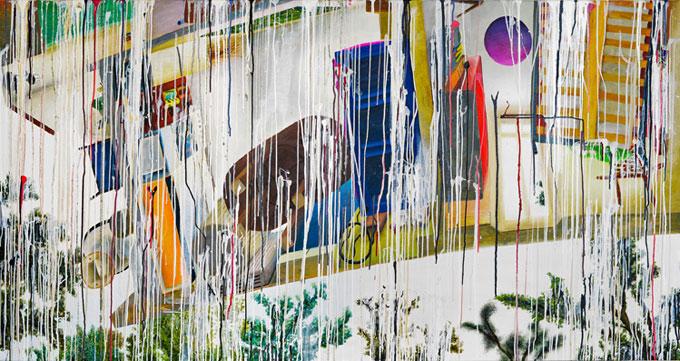 """""""der zweite vogel""""  •  2020  •  105 x 200 cm •  oil on canvas"""