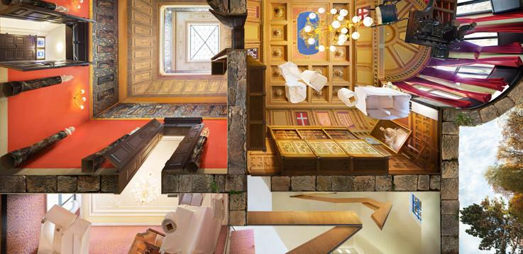 """villa wahnfried"" (Richard Wagner´s residental house in Bayreuth) • 2015 • 200 x 412 cm"