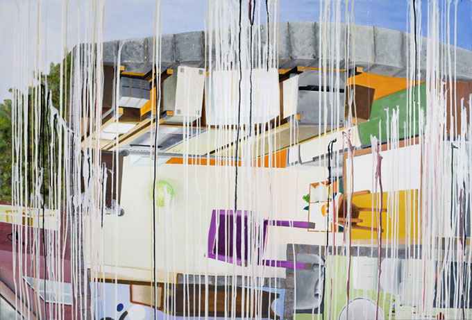 """""""haus der klarheit""""  •  2020  • 105 x 155 cm •  oil on canvas"""