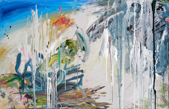 """fels am zeitrektator""  •  2021  •  75 x 115 cm •  oil on canvas"