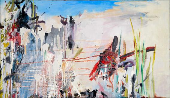 """strandpathie""  •  2021  •  70 x 120 cm •  oil on canvas"