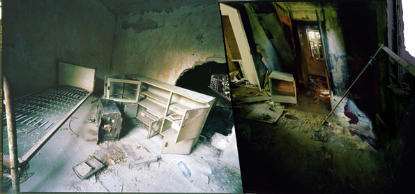 """""""des henkers erstes zimmer"""" • 2003 • 190x400cm (69x146cm) / 79x157"""" (27x57"""")"""