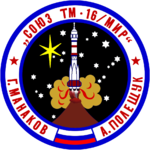 Mission patch Sojus TM-16