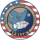 Mission patch Apollo 1 (Saturn 204)