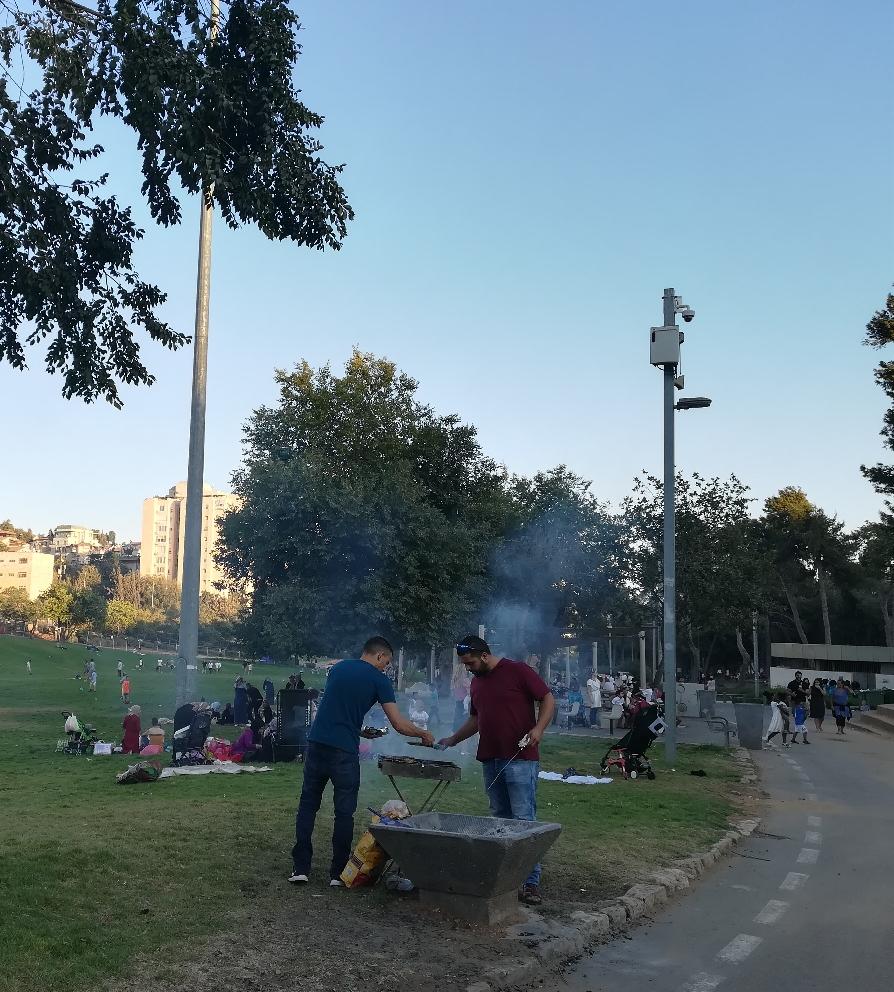 Jerusalem kann auch multikulti- aus dem großen Sacher-Park zu Füßen der Knesset