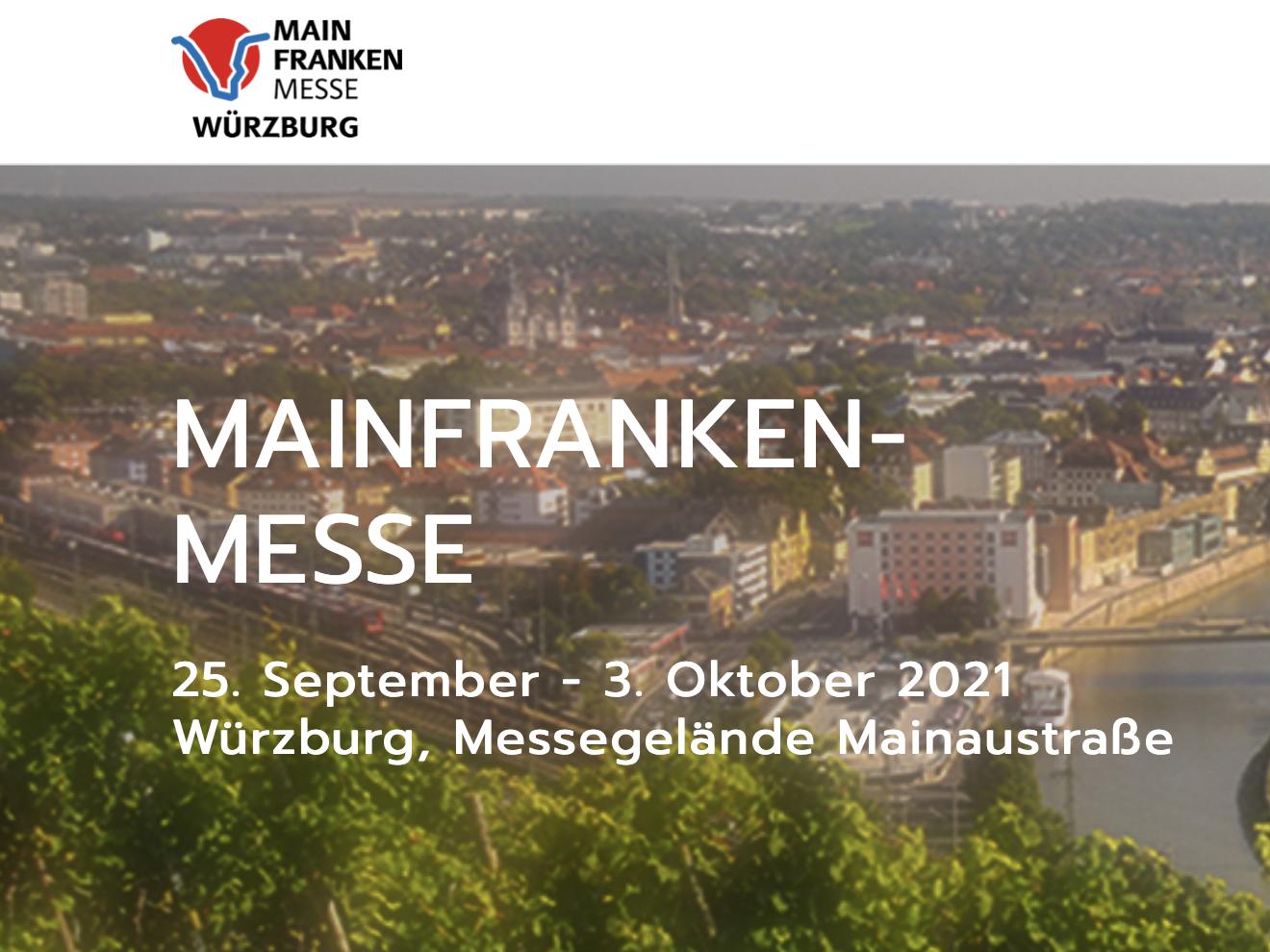 Teilnahme bei der Würzburger Mainfrankenmesse 2021