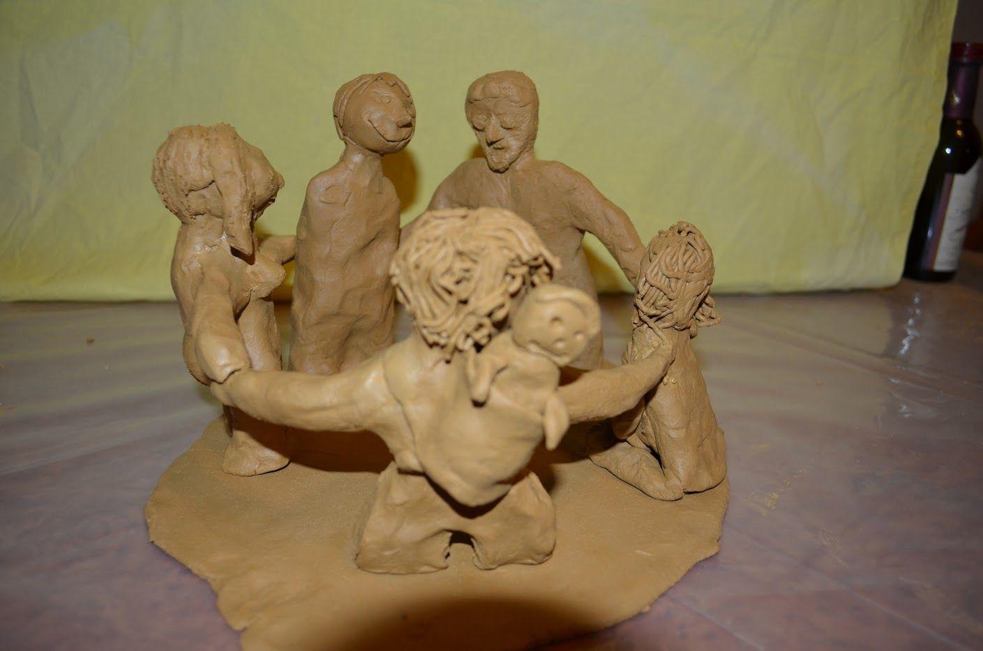Glücks-Skulptur vom Frauenwochenende