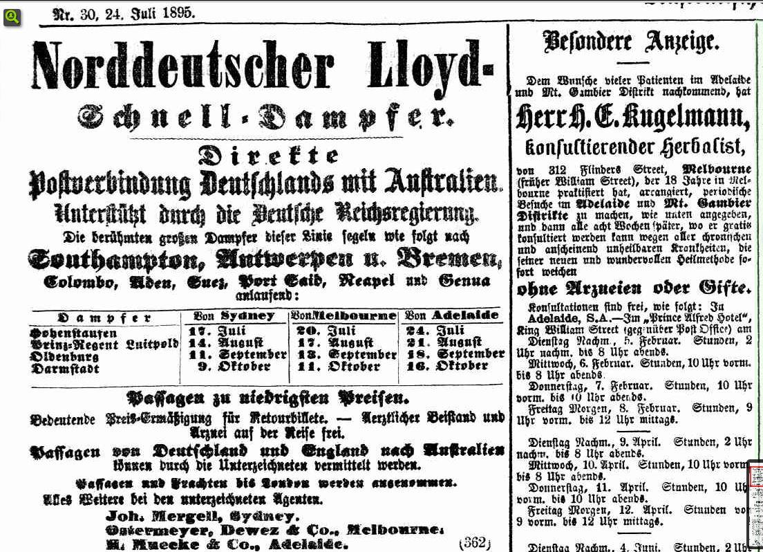 Anzeige des Norddeutschen Lloyd.
