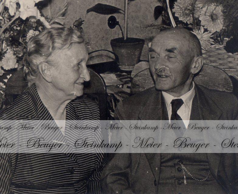 Bertha Kiehne und Heinrich Steinkamp, 1950er Jahre