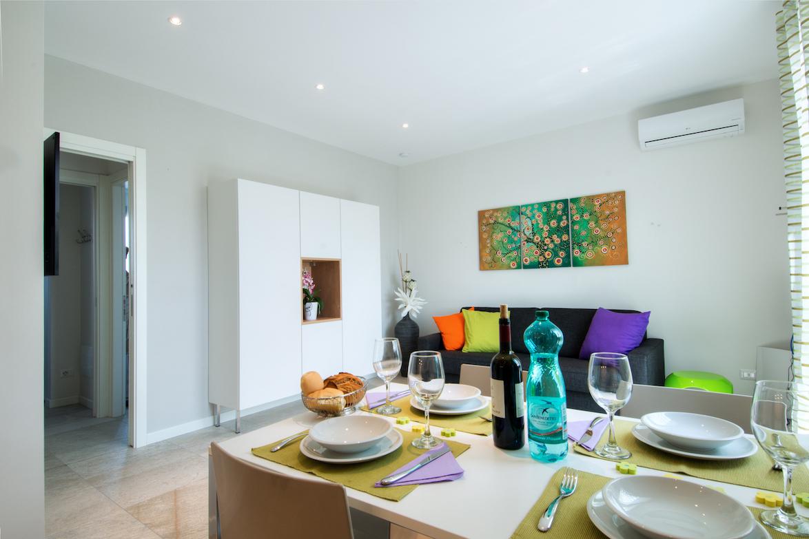 Wohnzimmer Ferienwohnung Verdi