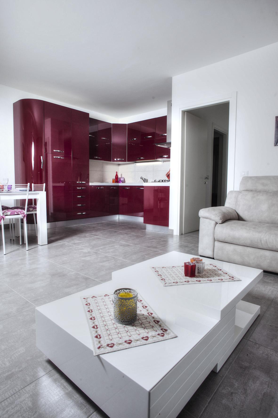 Wohnzimmer Ferienwohnung Lidia