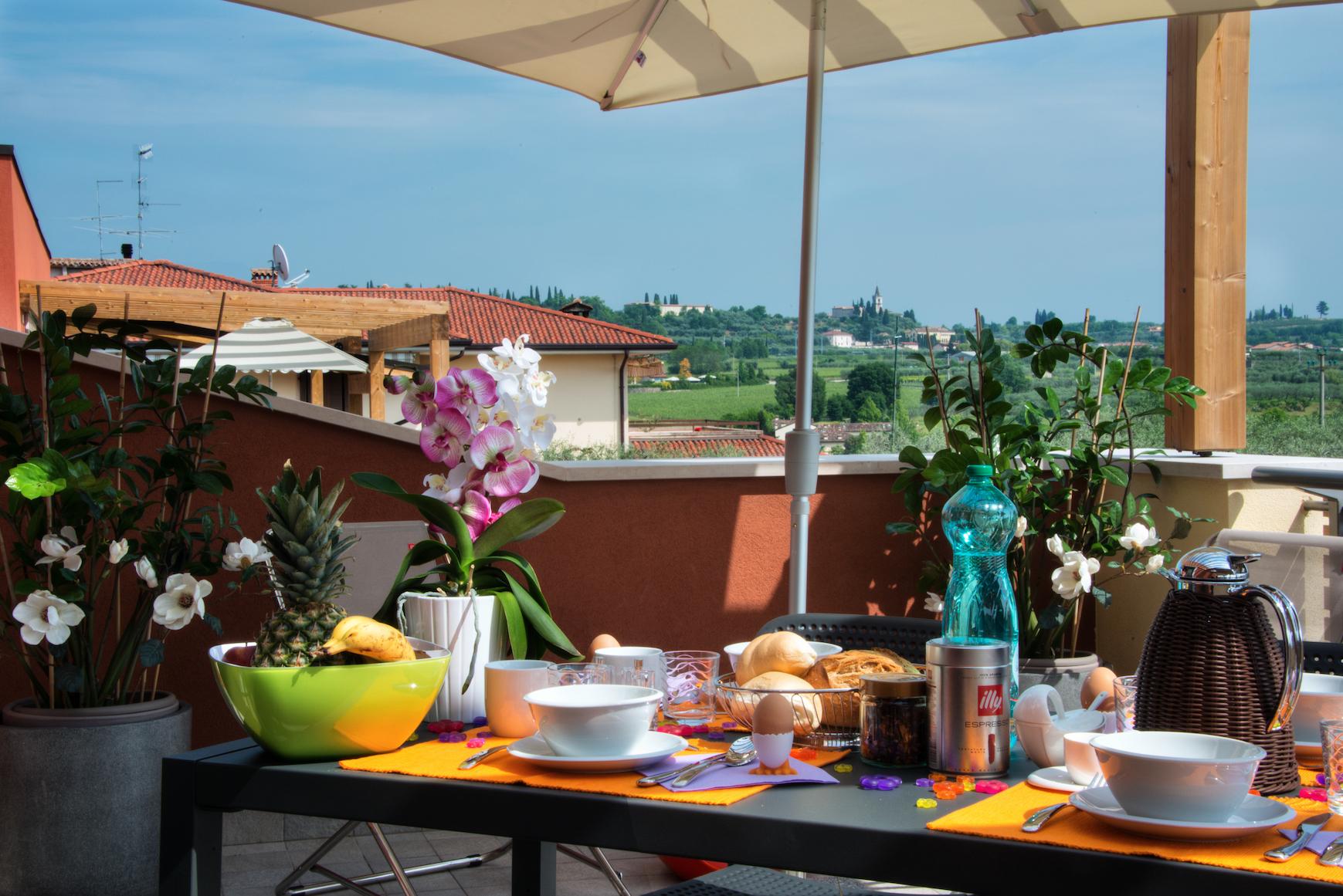 Terrasse Ferienwohnung Puccini