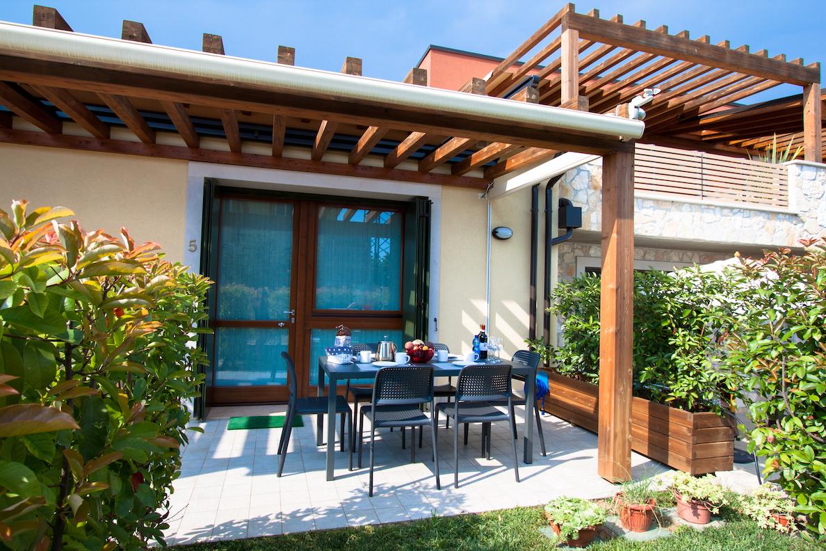 Terrasse Ferienwohnung Lidia
