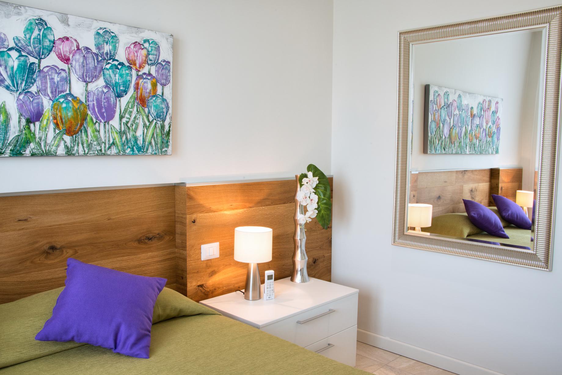 Schlafzimmer 1 Ferienwohnung Verdi