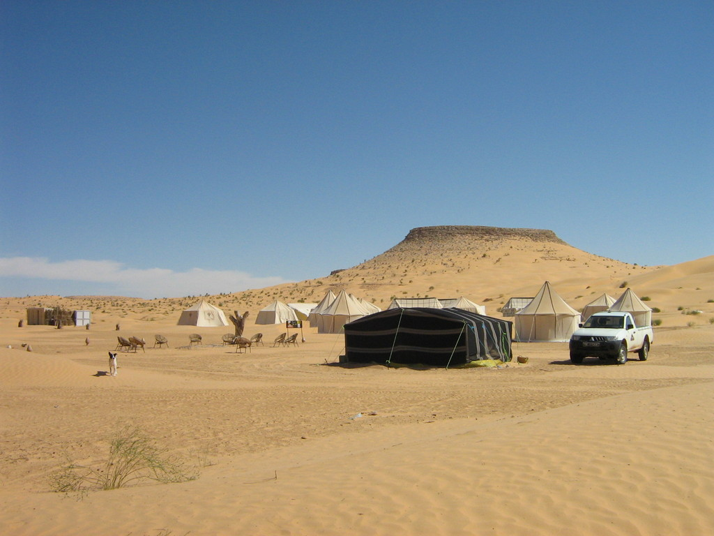 Luxuscamp am Rande der Sahara