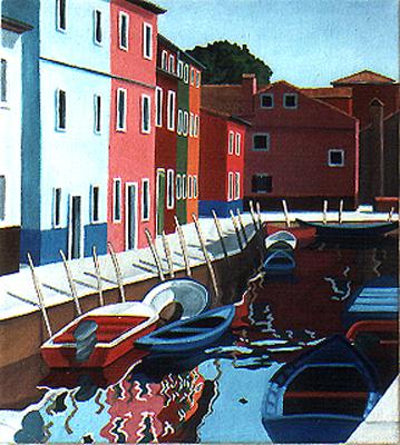 <b>Burano 5</b><br>Öl/Leinwand | 1994 | 50 x 45 cm<br><small>(Privatbesitz)
